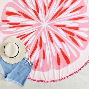 Pom Pom Grapefruit Beach Towel